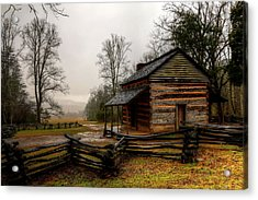 John Oliver's Cabin In Cades Cove Acrylic Print