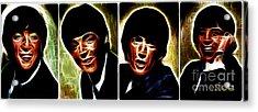 John, Paul, George And Ringo Acrylic Print