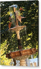 John Purdue Fountain In Color Acrylic Print