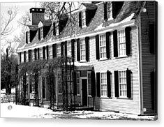 John Quincy Adams House Facade Acrylic Print by Heather Weikel