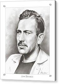 John Steinbeck Acrylic Print by Greg Joens
