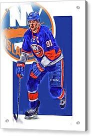John Tavares New York Islanders Oil Art Series 3 Acrylic Print