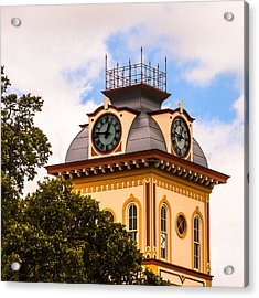 John W. Hargis Hall Clock Tower Acrylic Print