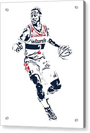 John Wall Washington Wizards Pixel Art 1 Acrylic Print