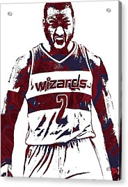 John Wall Washington Wizards Pixel Art 5 Acrylic Print