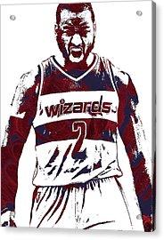 John Wall Washington Wizards Pixel Art 5 Acrylic Print