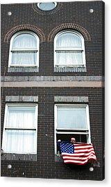 John Waves His Flag 5 Acrylic Print by Jez C Self