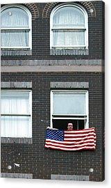 John Waves His Flag Acrylic Print by Jez C Self