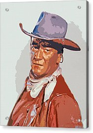 John Wayne - The Duke Acrylic Print by David Lloyd Glover