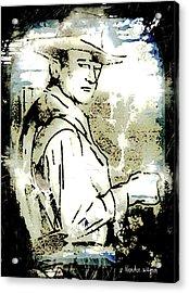 John Wayne Acrylic Print by Arline Wagner