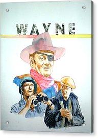John Wayne Acrylic Print by Bryan Bustard