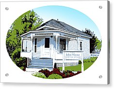 John Wayne Home Acrylic Print by Greg Joens