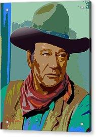 John Wayne Acrylic Print by John Keaton
