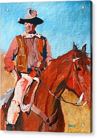 John Wayne Acrylic Print by Robert Bissett