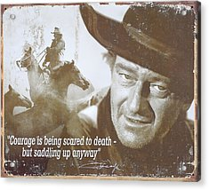 John Wayne - The Duke Acrylic Print by Donna Kennedy