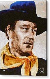 John Wayne, Vintage Hollywood Actor Acrylic Print
