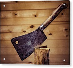 Johne Smith And Sons Meat Cleaver Acrylic Print by Chris Bordeleau