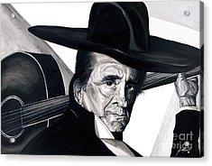 Johnny Cash Acrylic Print by Keith  Thurman
