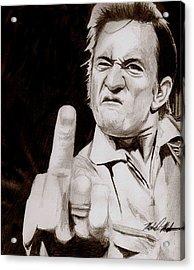 Johnny Cash Acrylic Print by Michael Mestas
