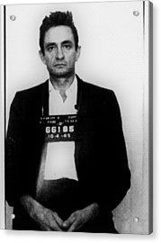 Johnny Cash Mug Shot Vertical Acrylic Print