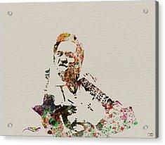 Johnny Cash Acrylic Print by Naxart Studio