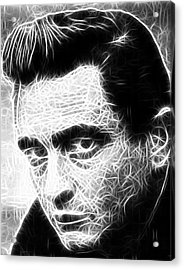 Johnny Cash Acrylic Print by Paul Van Scott