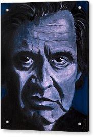 Johnny Cash Acrylic Print by Tabetha Landt-Hastings