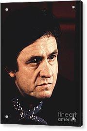 Johnny Cash The Man In Black Acrylic Print