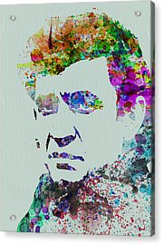 Johnny Cash Watercolor 2 Acrylic Print by Naxart Studio