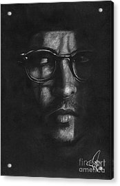 Johnny Depp 2 Acrylic Print by Rosalinda Markle