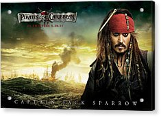 Johnny Depp In Pirates Of The Caribbean 4 Acrylic Print