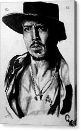 Johnny Depp Acrylic Print by Pauline Murphy