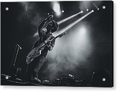 Johnny Marr Playing Live Acrylic Print by Marco Oliveira