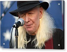 Johnny Winter Acrylic Print by Mike Martin