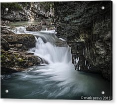Johnson Canyon Waterfall Acrylic Print