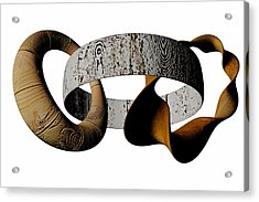 Acrylic Print featuring the sculpture Join Circles by R Muirhead Art