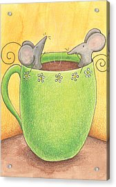 Join Me In A Cup Of Coffee Acrylic Print by Christy Beckwith