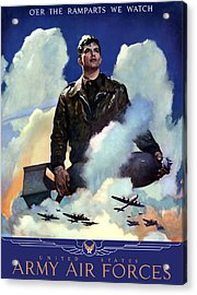 Join The Army Air Forces Acrylic Print by War Is Hell Store