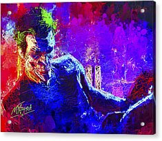 Acrylic Print featuring the mixed media Joker's Grin by Al Matra
