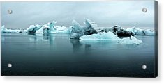 Acrylic Print featuring the photograph Jokulsarlon Glacier Lagoon Panorama by Brad Scott
