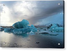 Acrylic Print featuring the photograph Jokulsarlon, The Glacier Lagoon, Iceland 4 by Dubi Roman