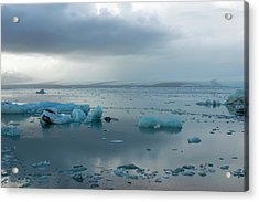 Acrylic Print featuring the photograph Jokulsarlon, The Glacier Lagoon, Iceland 1 by Dubi Roman
