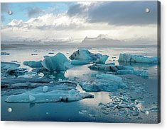 Acrylic Print featuring the photograph Jokulsarlon, The Glacier Lagoon, Iceland 6 by Dubi Roman