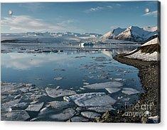 Acrylic Print featuring the photograph Jokulsarlon Ice Lagoon - Iceland by Sandra Bronstein