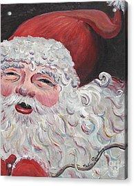 Jolly Santa Acrylic Print by Nadine Rippelmeyer