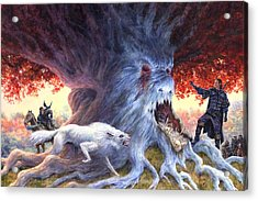 Jon At Whitetree Acrylic Print by Richard Hescox