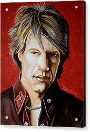 Jon Bon Jovi Acrylic Print by Al  Molina