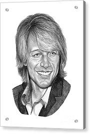 Jon Bon Jovi Acrylic Print by Murphy Elliott