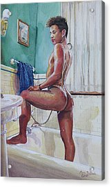 Jon In The Bathtub Acrylic Print