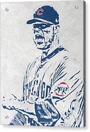 Jon Lester Chicago Cubs Pixel Art Acrylic Print by Joe Hamilton